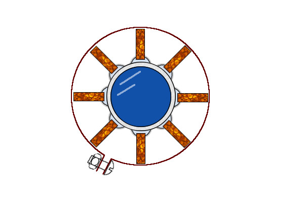 Схематичный чертеж оребрения круглой трубы без сварки и пайки.